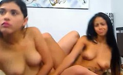 Two Hot Latinas Play On Webcam