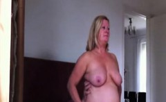 Mature blond spouse with bosoms fucks that are hang0ng the