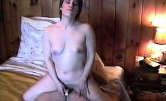 Hot milf Michelle gets on top of a hard pole and fucks it w