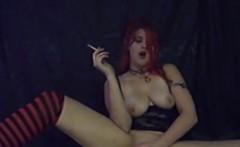 Pearl Smoking Masturbating