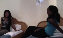 African lesbians Alisha and Virgin in hot fingering session