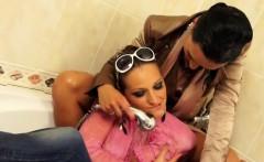 Fancy lesbians having a shower together