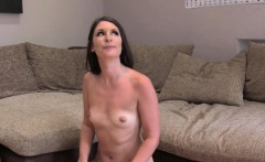 Small tittied Brit sucks and fuck huge dick in casting