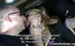 Dirty blonde bitch gets her horny ass