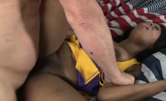Pussylicked black cheerleader drilled