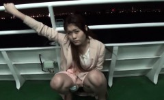 Asian flashes on ferry