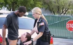 Police share a black cock in Miami street