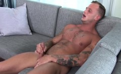 Zack does some vigorous work on his big and hard dick