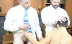 Older Mormon dudes get gay blowjob from young twink