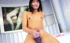 Lovely Asian Tgirl Pupae Does It Solo