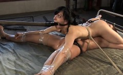 Girl gets her anal and vagina stuffed with electric toys