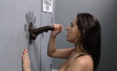 Ashley Adams Sucks Off Black Cock - Gloryhole