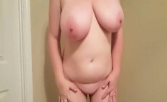 Granny with big tits gets naked