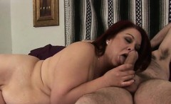 Boy and his fat girlfriend are having nice oral fun on cam
