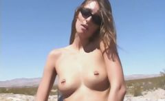 Naked Chick On A Desert Highway