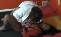 ebony girls wrestling with aggression on academy wrestling