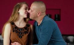 Virgin Alesya being seduced by a porn actor
