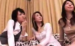 Lustful Oriental housewives get together for a wild lesbian