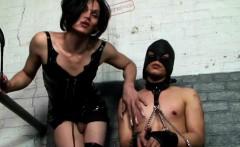 Dominant Tranny Whips Her Slave