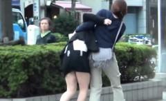 Asian teen public pees