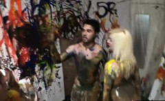 college teens bodypaint party ends in groupsex with the boys