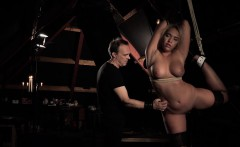 Screaming discipline for big boobs submissive blonde