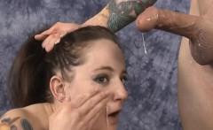 Brunette Face Fucked And Rubbed In Spit On The Floor