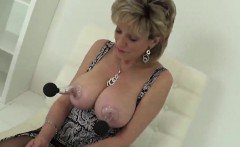 Unfaithful british mature gill ellis shows her large hooters