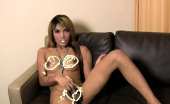 Heavenly Bodied Ladyboy In Dancing And Giving Messy Blowjob