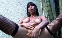 Latina tranny gets messy and jerks off shemeat till cumshot