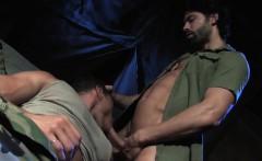Big dick military rimming with cumshot