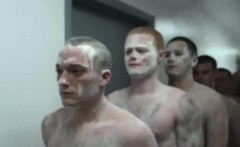 Soldiers Get Naughty In The Shower And Start Barebacking