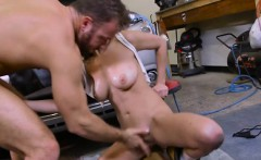 hottie ashley adams gets bent over by the mechanic