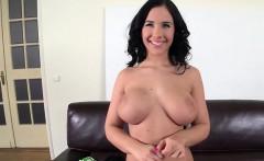 Big tits pornstar casting with cumshot