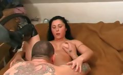 Black hair horny bisexual girl fucked