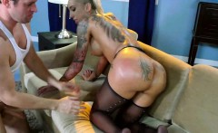 tattooed babe with huge ass gets anal