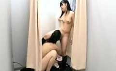 Two sexy girls find a place to secretly fulfill their lesbi