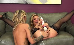 MILF Cherie DeVille and Tattooed Kleio Valentien Fuck Hard