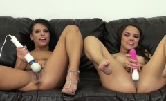 adriana and dillion take on a double ended dildo and more