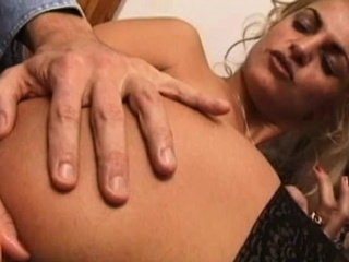 Stockings enjoys lots of cum on her face