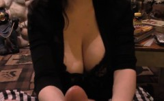 Only A Little Benefit From The Huge Titted Brunette