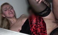 Afina Kisser In Stairwell Orgasms for Russian Blonde