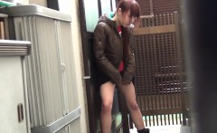 Kinky asian teens peeing