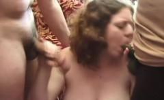 Preggo Lola gets a threesome