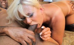 Threesome interracial action with the sexy Kayla Kleevage!
