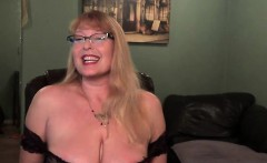 Busty mature taking off her hot lingerie