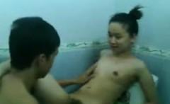 bound asian fetish slut piss shower