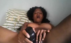 Ebony girlfriend masturbates and teases