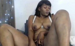 Perfect Ebony Mature Masturbates With Toys And Squirts