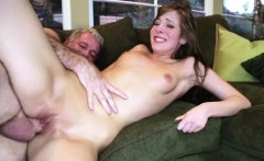 Coach daddy screwing Molly Mansons pussy on top